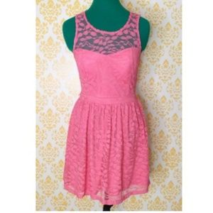 Candie's Baby Pink Lace Sleeveless Dress  S